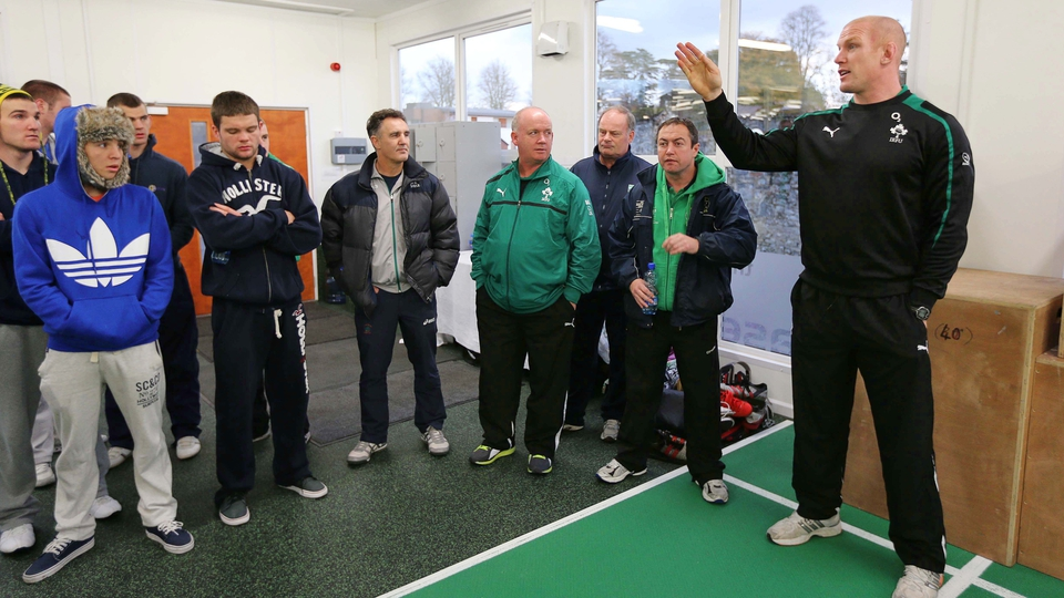 Before Ireland second row Paul O'Connell shares some wisdom