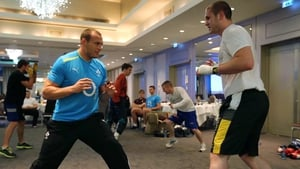 Ireland rugby's Dan Tuohy spars with super heavyweight Con Sheehan