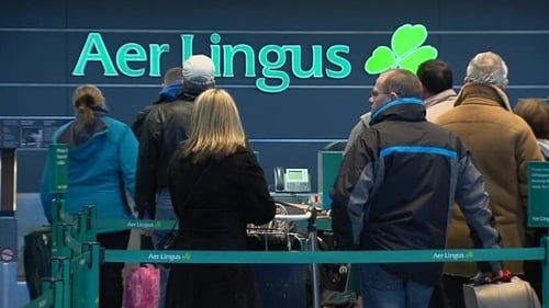 Aer Lingus said customers flying to Brussels have experienced difficulties with luggage