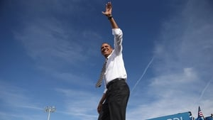 Barack Obama moved quickly across three battleground states once he returned to campaigning yesterday