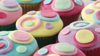 Bright and bold cupcakes - These are sure to wow at any party, bake sale or even just as a rainy day project