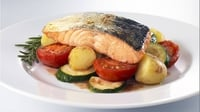 Salmon Traybake - Family food at its finest.