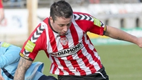 Derry City striker Rory Patterson hopes to lead the attack against St Patrick's Athletic in the FAI Cup final