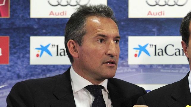 Txiki Begiristain was director of football at Barcelona