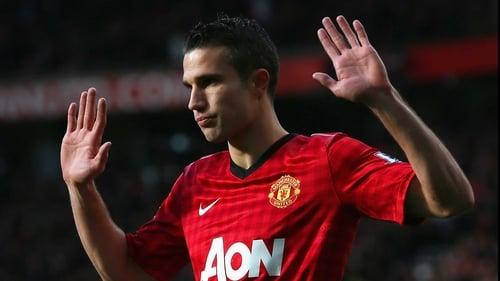 Robin van Persie decides not to celebrate after opening the scoring