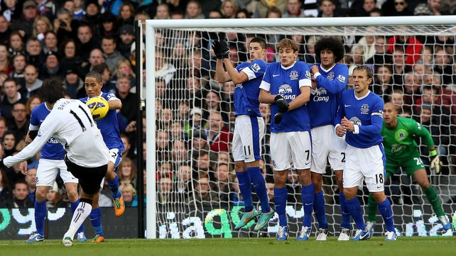 Bryan Ruiz's free kick led to Fulham's opener by an unfortunate Tim Howard