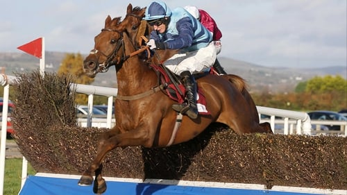 Kauto Stone and Daryl Jacob on the way to victory in the JNwine.com Champion Chase at Down Royal