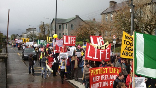 Organisers Youth Defence said there was no appetite in Ireland for abortion legislation