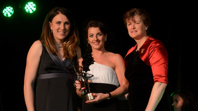(L-R) Annalise Murphy, guest of honour, Claire O'Connor of Wexford and Aileen Lawlor, President of the camogie association