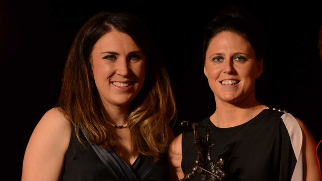 Guest of honour, Irish olympian Annalise Murphy (L) and Cork's Gemma O'Connor