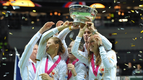 Today's win is the Czechs' seventh Fed Cup overall