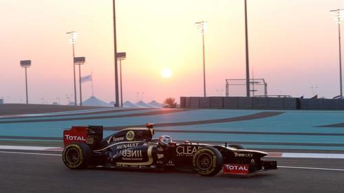 Kimi Raikkonen at the Yas Marina circuit