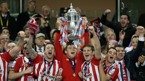 Cup holders Derry City have won the FAI Cup five times in their history