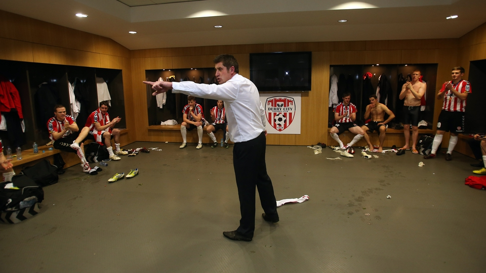 Derry manager Declan Devine had a few post-match words for his charges