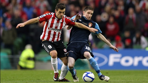 David McDaid helped Derry City win the FAI Cup last season