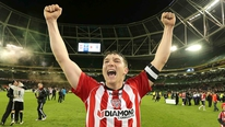 Derry City captain Kevin Deery says he went through every emotion during the FAI Cup Final win over St Pat's