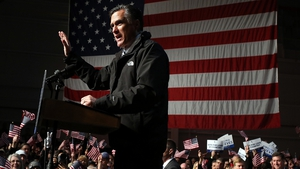 Mitt Romney addresses supporters in Virginia, which is a must-win state for him