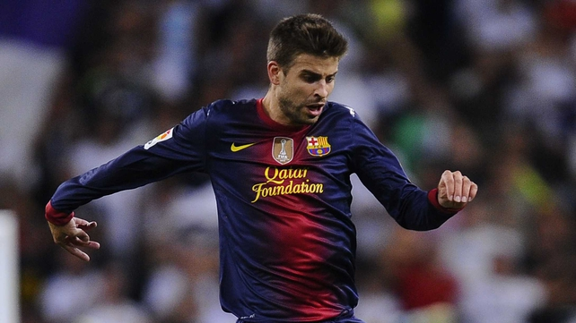 Gerard Pique has not played since September 19