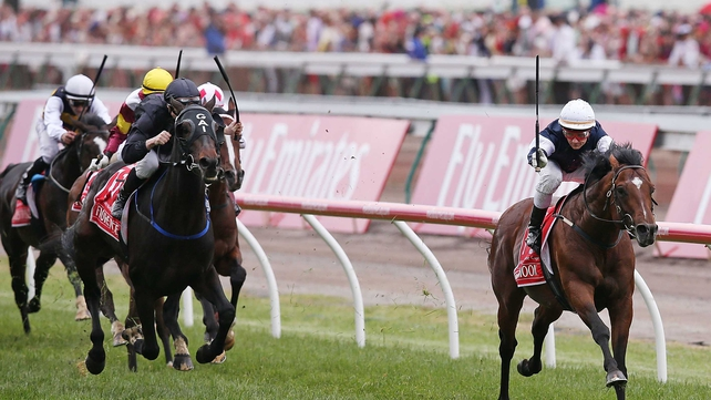 Green Moon got the better of Fiorente by a length in the Emirates Melbourne Cup