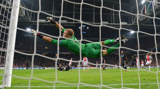 Joe Hart was in fine form against Ajax in Amsterdam
