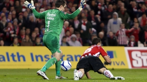 Brendan Clarke conceded a second-half penalty, which enabled Derry to take the lead