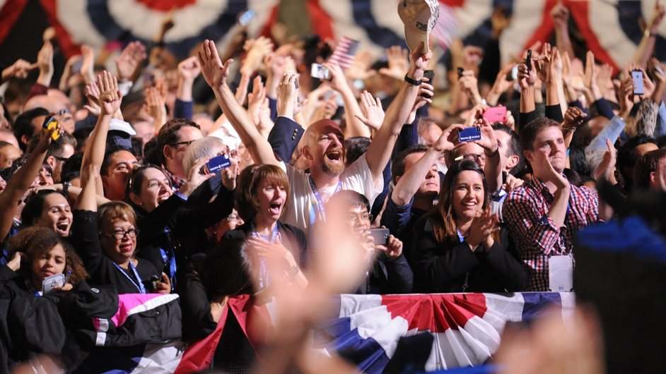 Ecstatic Obama supporters celebrate in Chicago