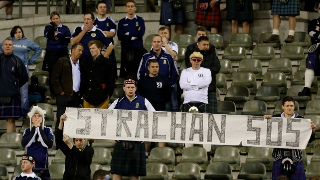 A section of Scotland falls called on Gordon Strachan to be installed as manager following defeat to Belgium