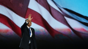 President Obama arrives to a rapturous reception in Chicago