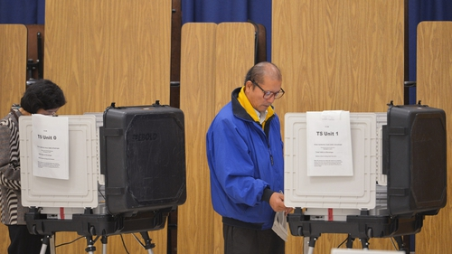 People cast their vote in Maryland