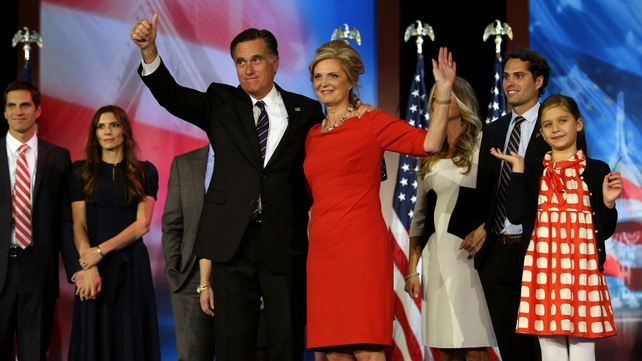 Republican challenger Mitt Romney thanks supporters after conceding defeat