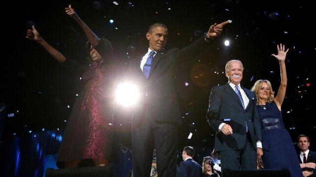 Mr Obama used his acceptance speech to call for cross-party consensus