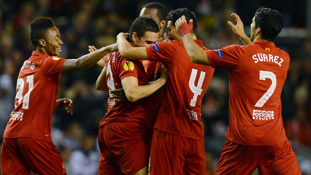Stewart Downing is congratulated following his winner the last time the teams met