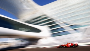 Fernando Alonso of Ferrari drives during practice for the Abu Dhabi Formula One Grand Prix at the Yas Marina Circuit