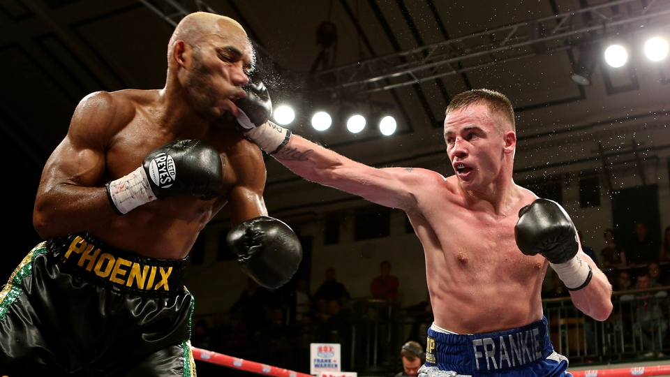 Frankie Gavin (right) in action with Junior Witter during their British welterweight fight at York Hall