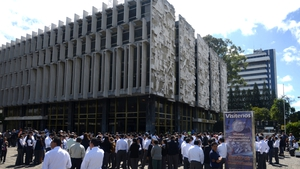 Workers were evacuated out of office buildings in Guatemala