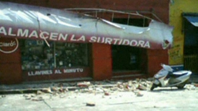 Buildings damaged after 7.5 magnitude quake