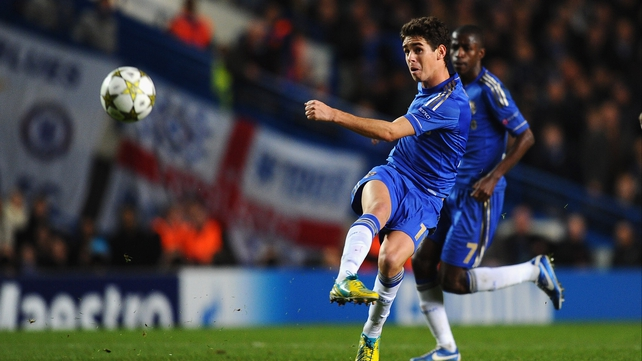Chelsea Brazil international Oscar grabbed the only goal of the game in Prague
