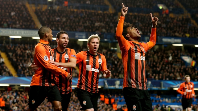 Willian scored a brace for Shakhtar against Chelsea