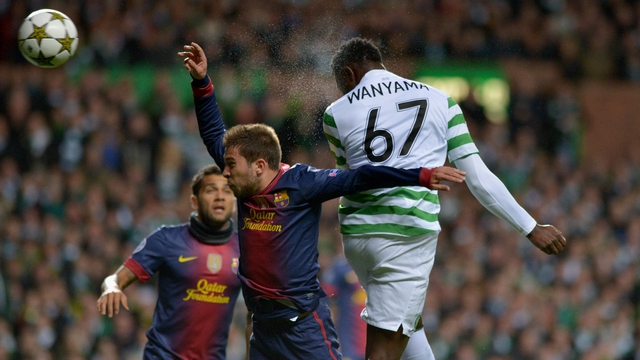 Victor Wanyama heads home Celtic's opener