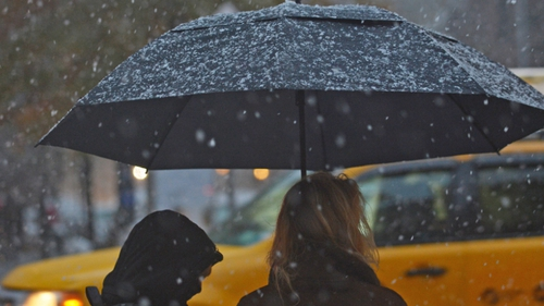 Heavy rain and snow hits US northeast still reeling after Superstorm Sandy