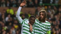 Celtic's Victor Wanyama and Efe Ambrose speak to RTÉ's Tony O'Donoghue following the famous win over Barcelona