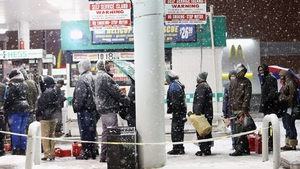 Long queues formed at petrol stations in New York City