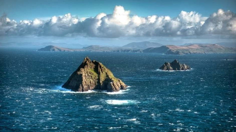 The Defence Forces released this image of the Skelligs, which was taken on a recent Air Corps maritime patrol