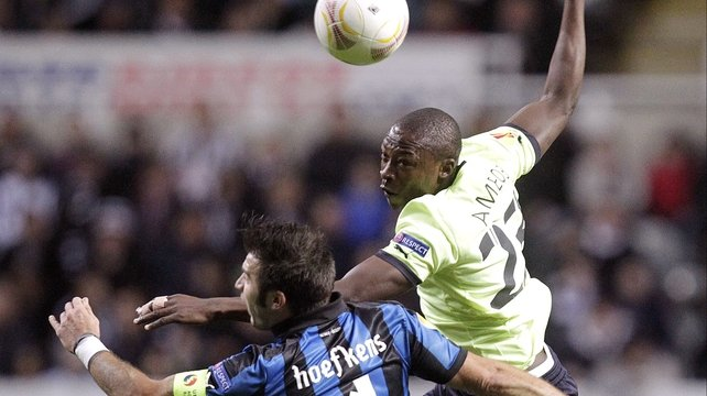 Shola Ameobi scored a brace against Bayer Leverkusen 10 years ago this week