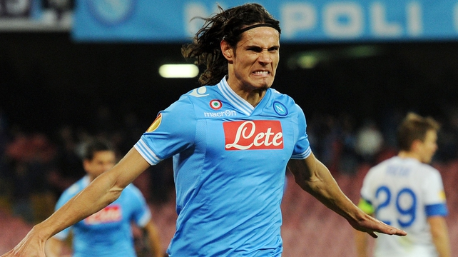 Edinson Cavani has scored 104 goals in 138 appearances for Napoli