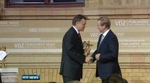 Kenny accepts award 'in the name of the Irish people'