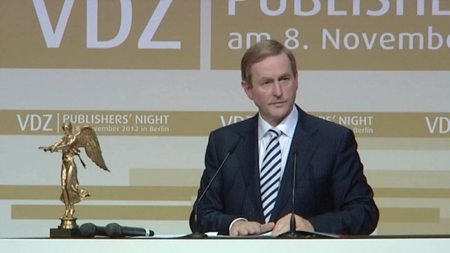 Enda Kenny was given the award for his 'strong contribution to Europe'