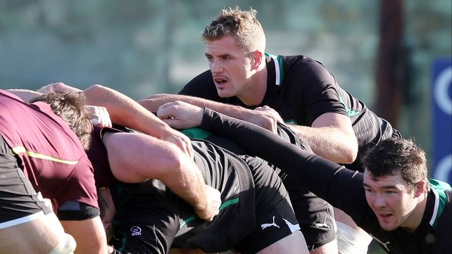 Jamie Heaslip will lead the Ireland pack on Saturday, with the added bonus of being captain for the first time