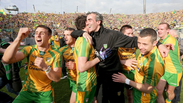 Jim McGuinness managed Donegal to the All-Ireland Senior Football Championship title in 2012
