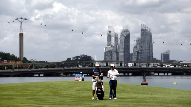 Rory McIlroy during the second round of the Singapore Open